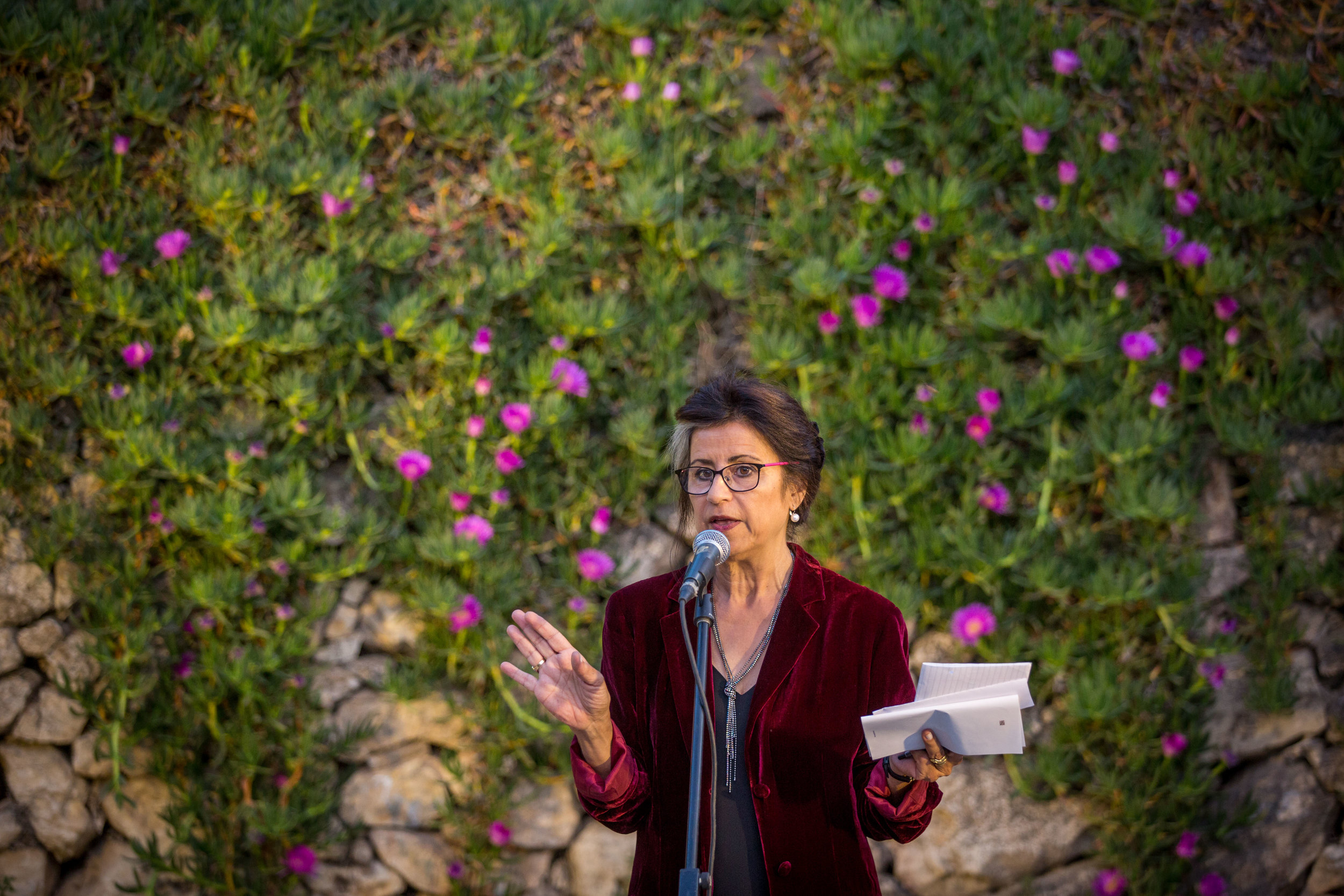 Ahdaf Soueif at PalFest in 2017 in Nablus, Palestine. Photo: Rob Stothard for Palfest.