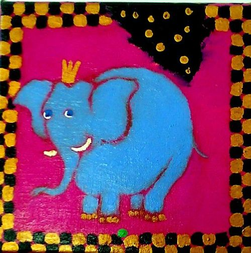 """Princess on the pea""  25 x 25 cm.  kr.: 1.500,-"