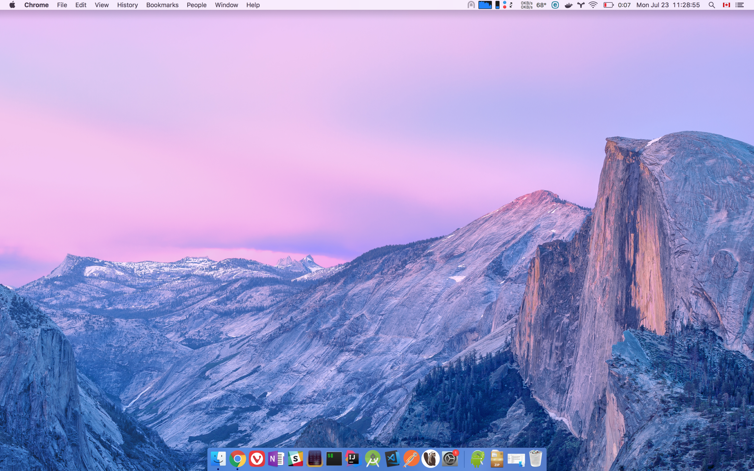 My work macOS setup. I've hardly done any tweaking and it looks pretty great.