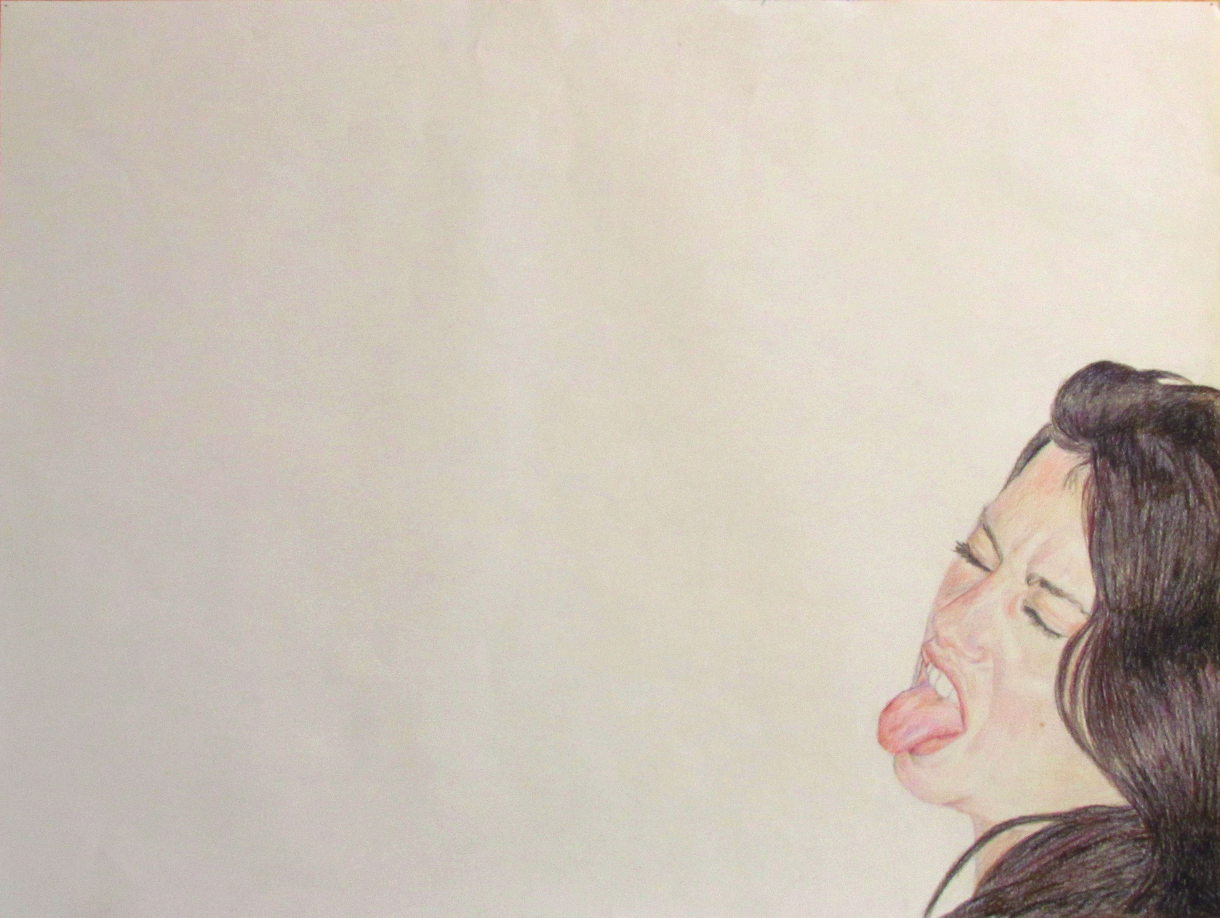 Kelly's Response to a Flash , 2010, Colored Pencil on Paper,30 inches (76.2 cm) x 40 inches (101.6 cm)