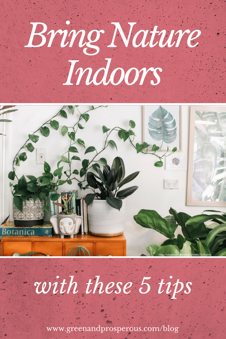 tips to bring nature indoors
