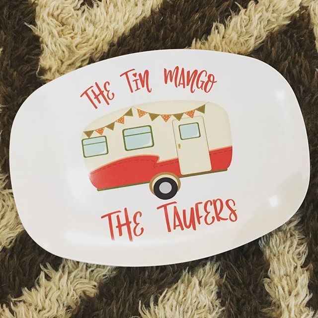 Thanks @tsulli73 for the awesome platter!!! ❤️ #thetinmango @kerrimakes #vintagecamper