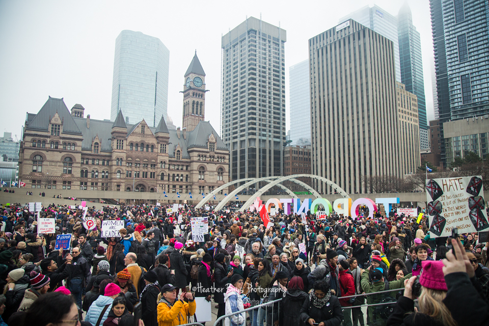 January 21st  Women's March on Washington - Toronto {documentation, event session}