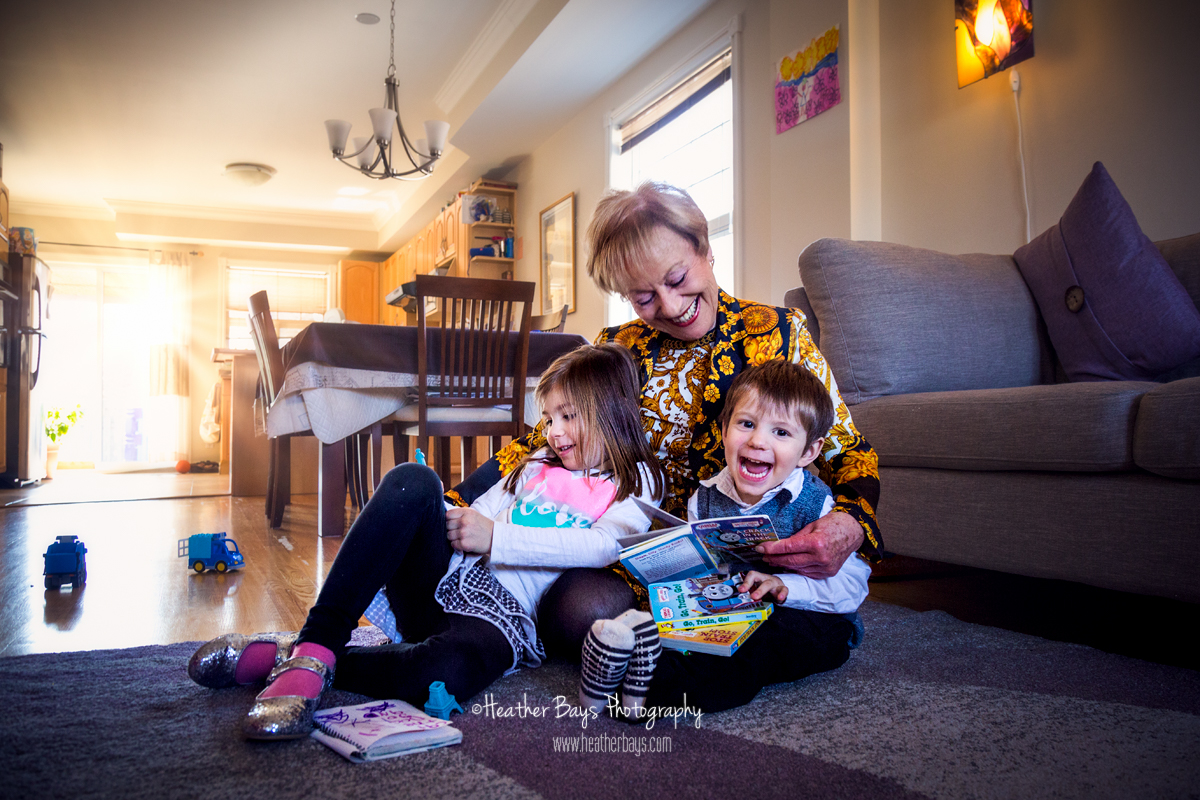 May 18th  Bon Anniversaire Grand-mère (in-home family lifestyle portrait session)