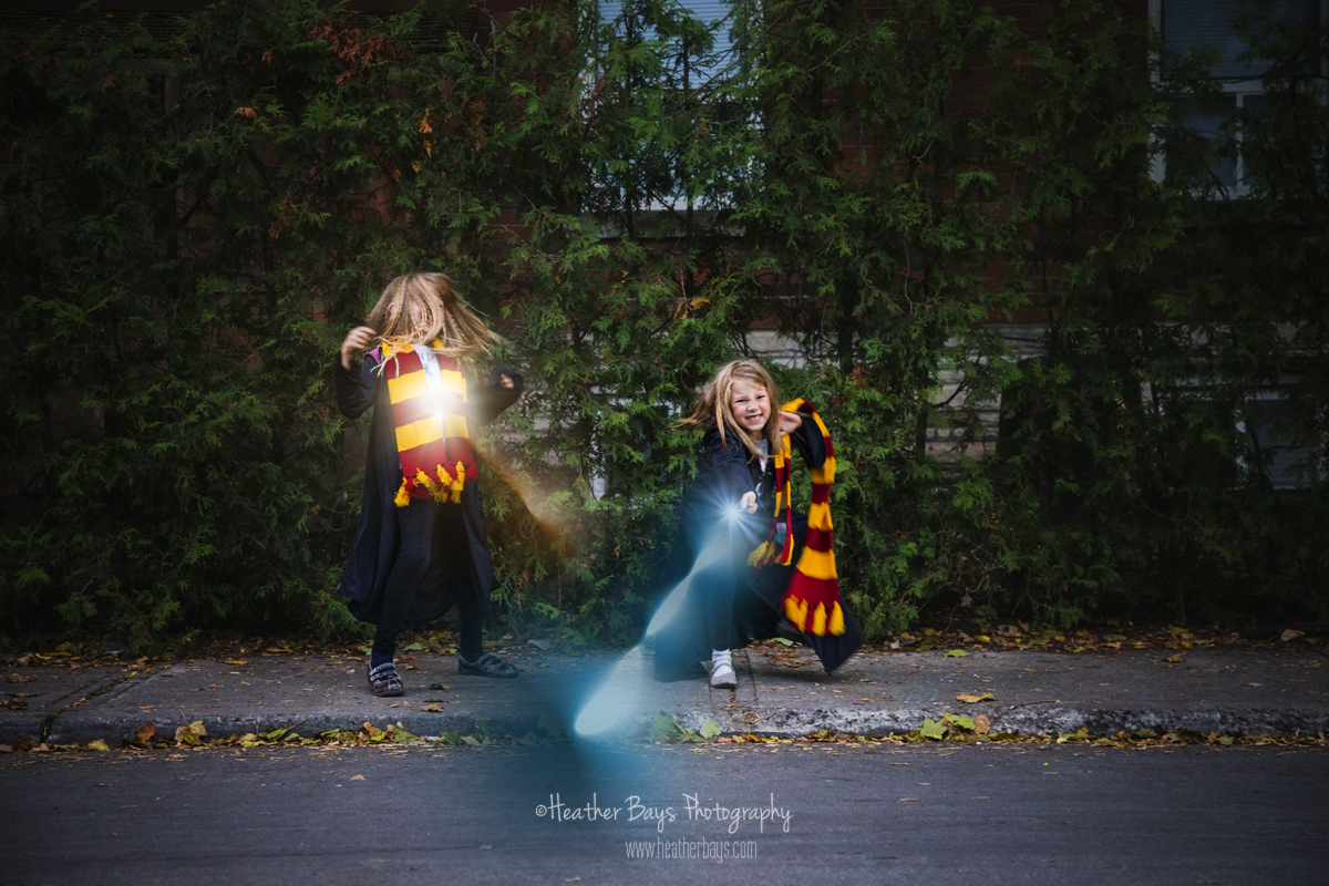 November 1st  Hermione Granger & Ginny Weasley (trick or treating event session}