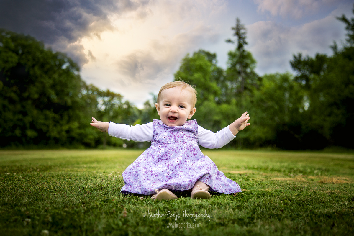 March 8th  Emilia, 8 Months Old {family lifestyle portrait session}