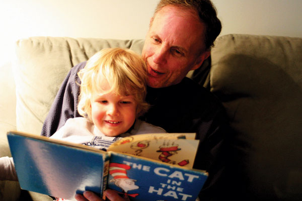 "The two-ness of the mind is one of its most basic features.      Meditation Teacher David Lawson reading The Cat in the Hat to his son, Ben. The Cat has two helpers, Thing One and Thing Two, who create ""maximum mischief"" wherever they go. Not unlike the human mind, forming endless pairs of opposites."