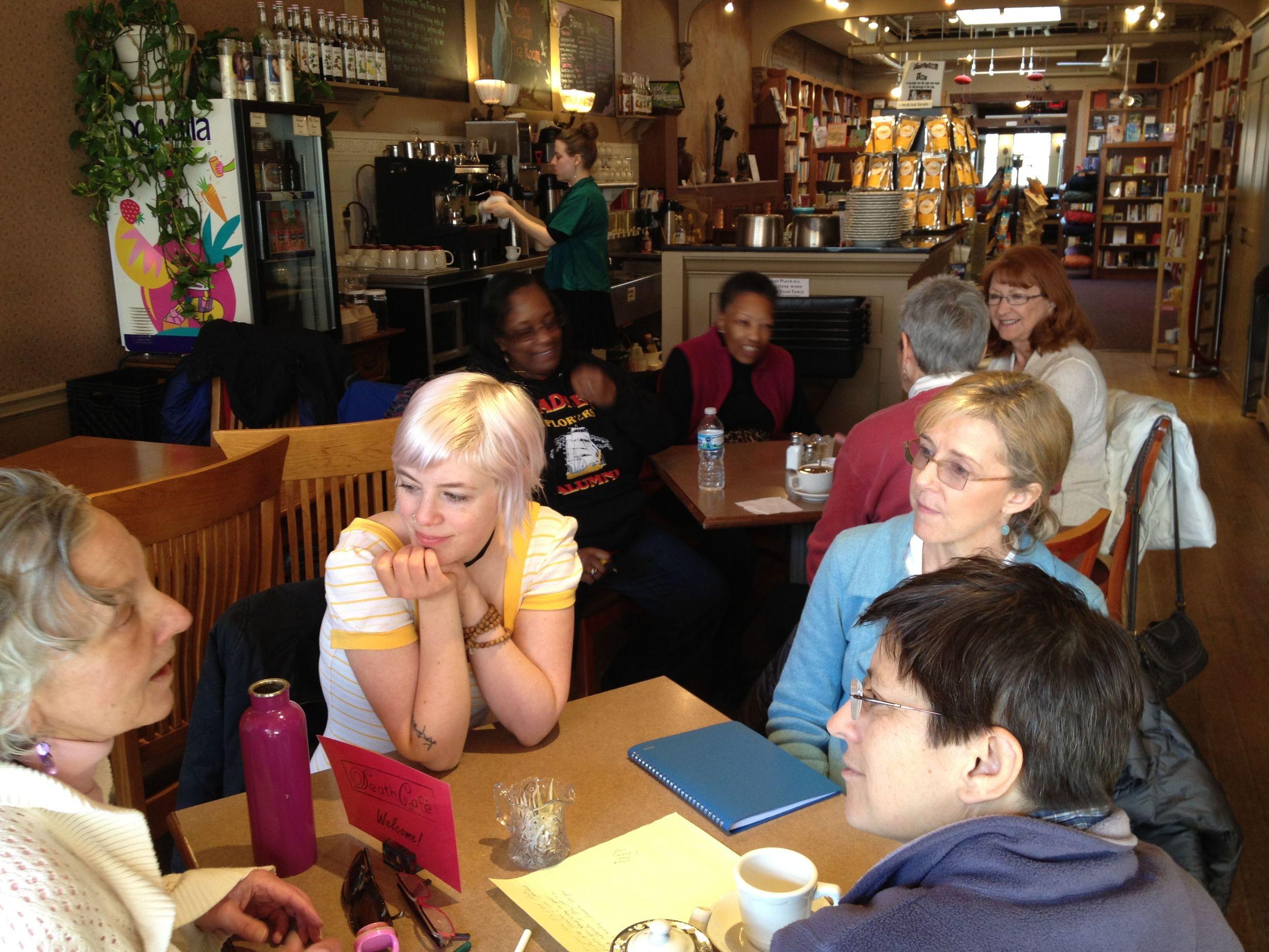February 2014 Death Cafe at Crazy Wisdom Tea Room