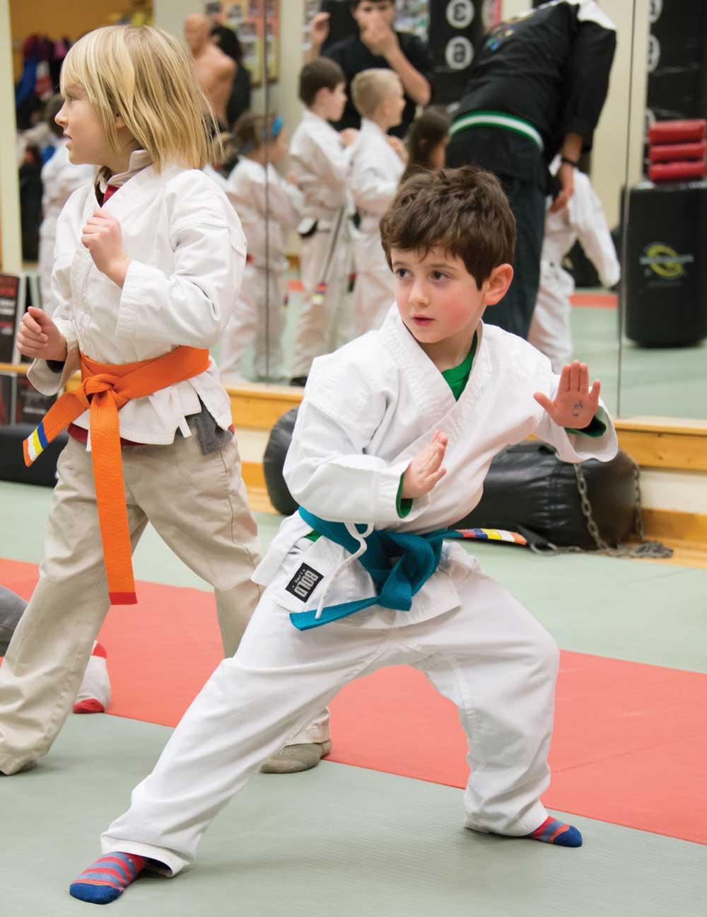 Ninja students improve their posture