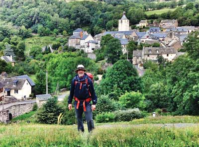 Carter upon leaving Saint-Chély-d'Aubrac on the eighth day.