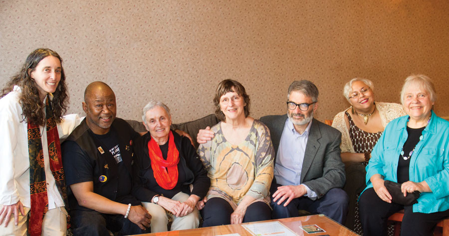 Pictured Above (Left to right): Jill Halpern, Darryl Mickels, Judy Schmidt, Laura Lee Hayes, Glen Modell, Elizabeth James, and Beverly Black