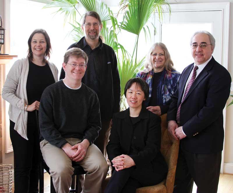Seated: Ian Moyer, Treasurer; Yi-Li Wu Standing: Laura Robinson, President; Gus Teschke, Vice-President; Judith Hoffman, Secretary; Russ Taichmann (not pictured: Rob French, Donna Vigilant, and Kathleen Knol)