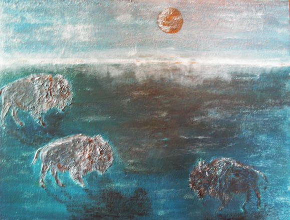 """""""Buffalo in the Midst"""" by Sibel Ozer"""