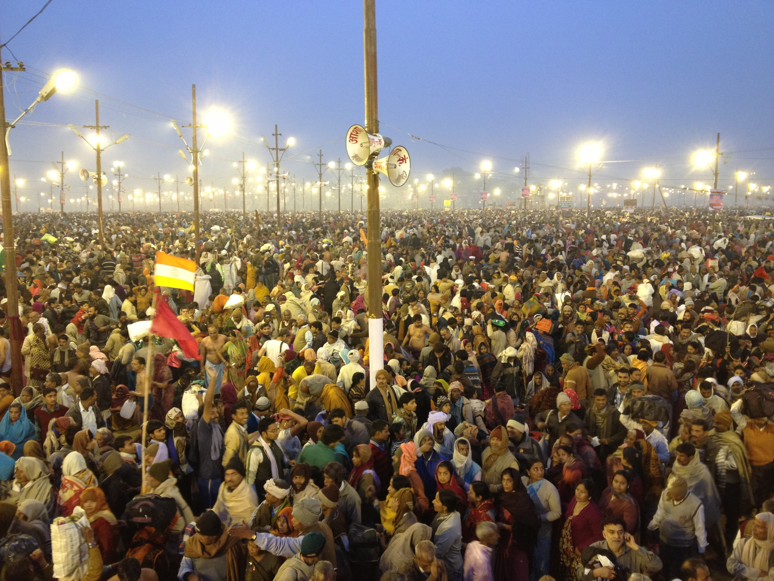 The most auspicious bathing day at the Kumbh, almost 30 million people came to bathe on this day!