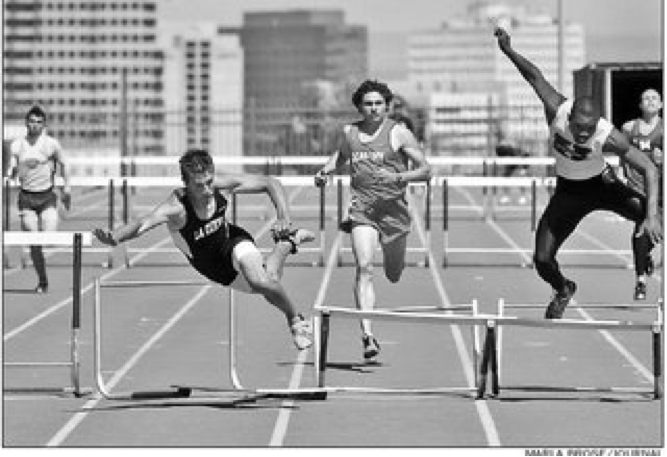 If athletes were afraid to make a mistakes, the world would have no hurdlers.