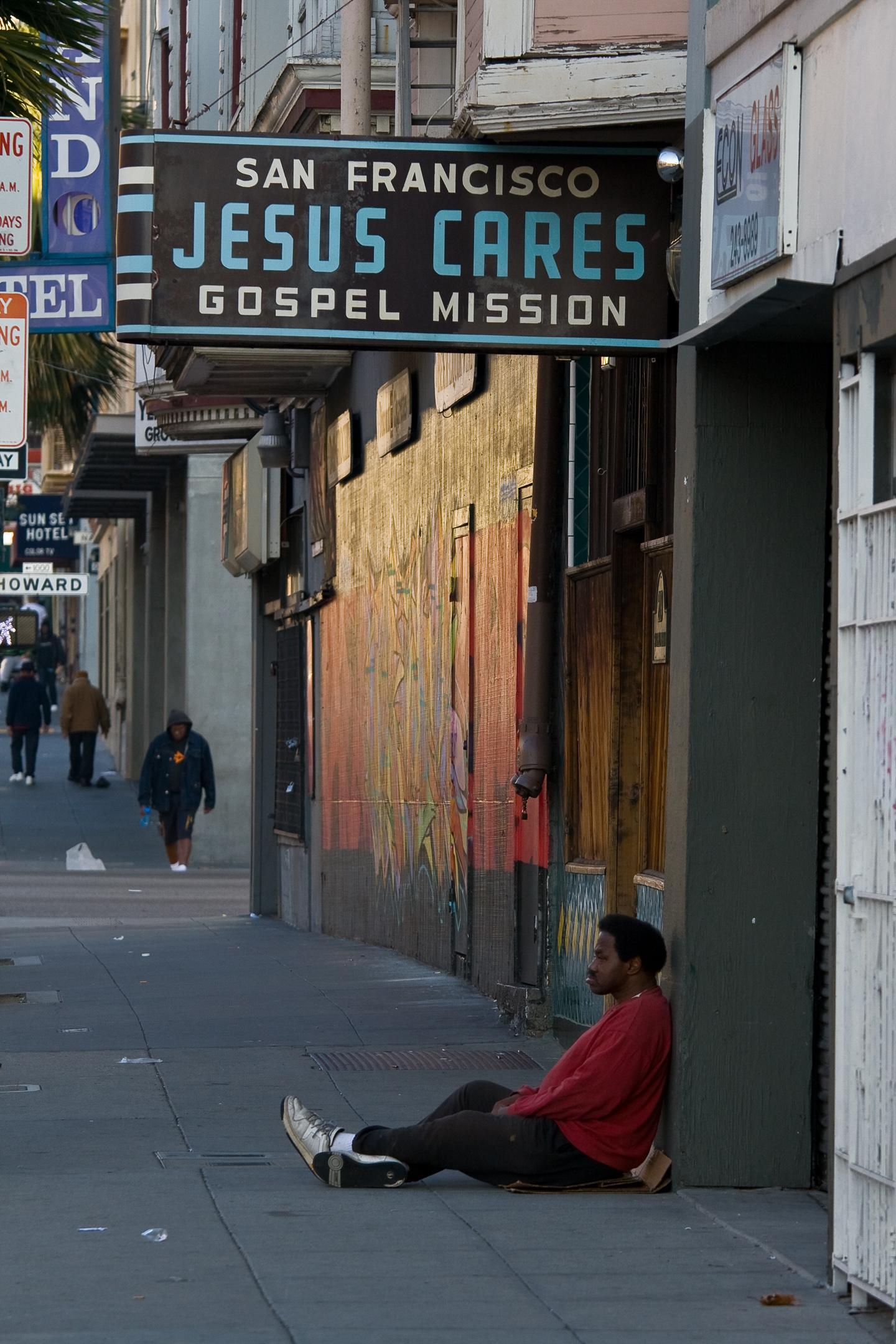 """ Jesus Cares"" San Francisco USA"