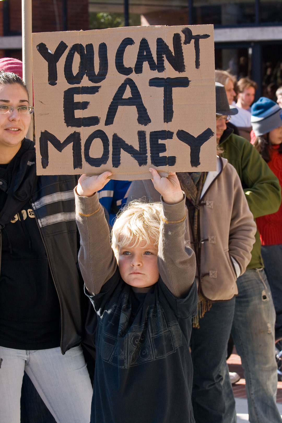 """You Cannot Eat Money"""