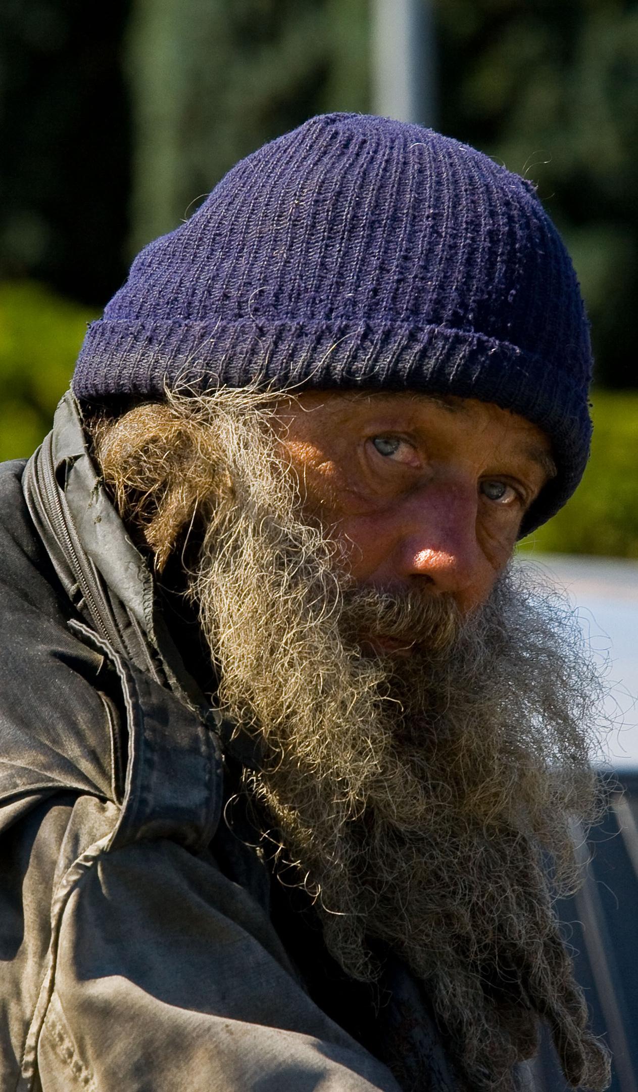 Street person Victoria B.C.