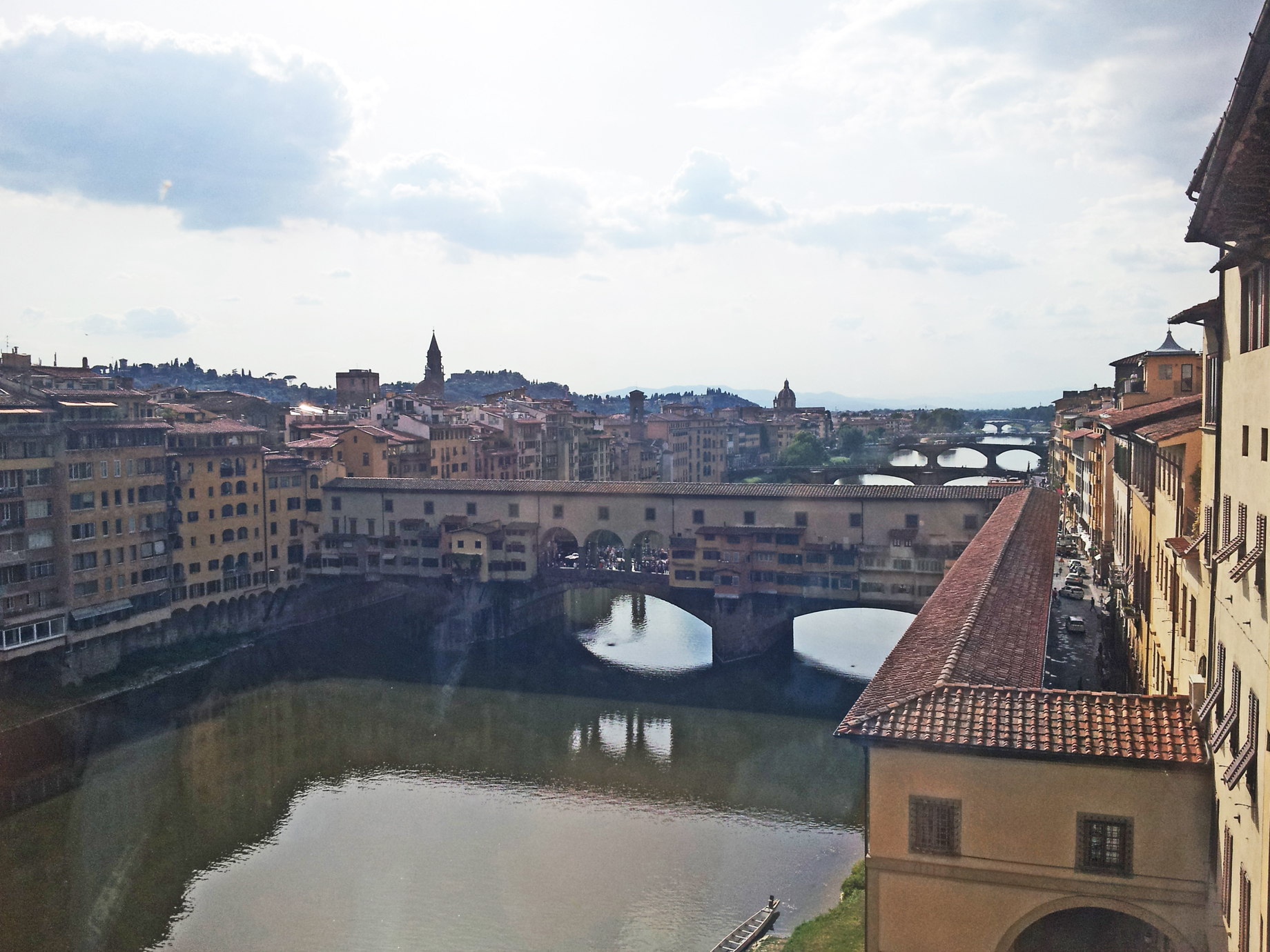 View from the Uffizi, Hitler stood right here in 1938!