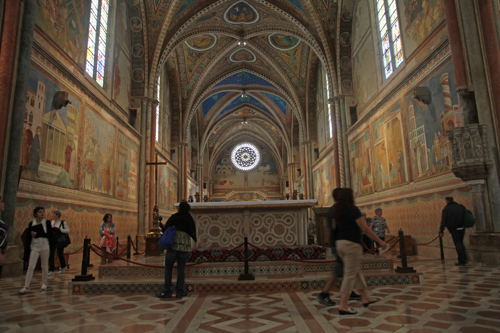 San Francesco, Giotto interior, Assisi