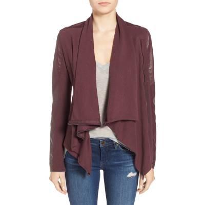 BlankNYC Vegan leather cowlneck zip jacket, XS, $98