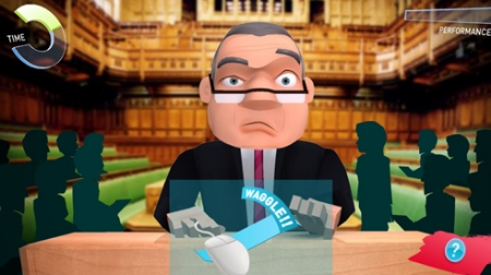 MP for a week, screenshot from the game, picturing confused politician.