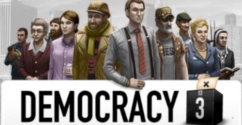 Democracy 3, Menu screen, Game developed by Positech.co.uk