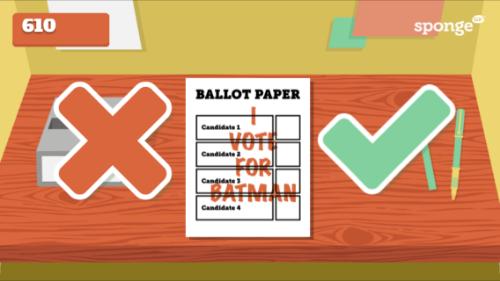 Election Game, Voted, Batman, Politics