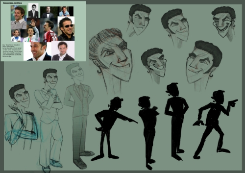 Green IT. Character Design Process, Nicky Rhodes