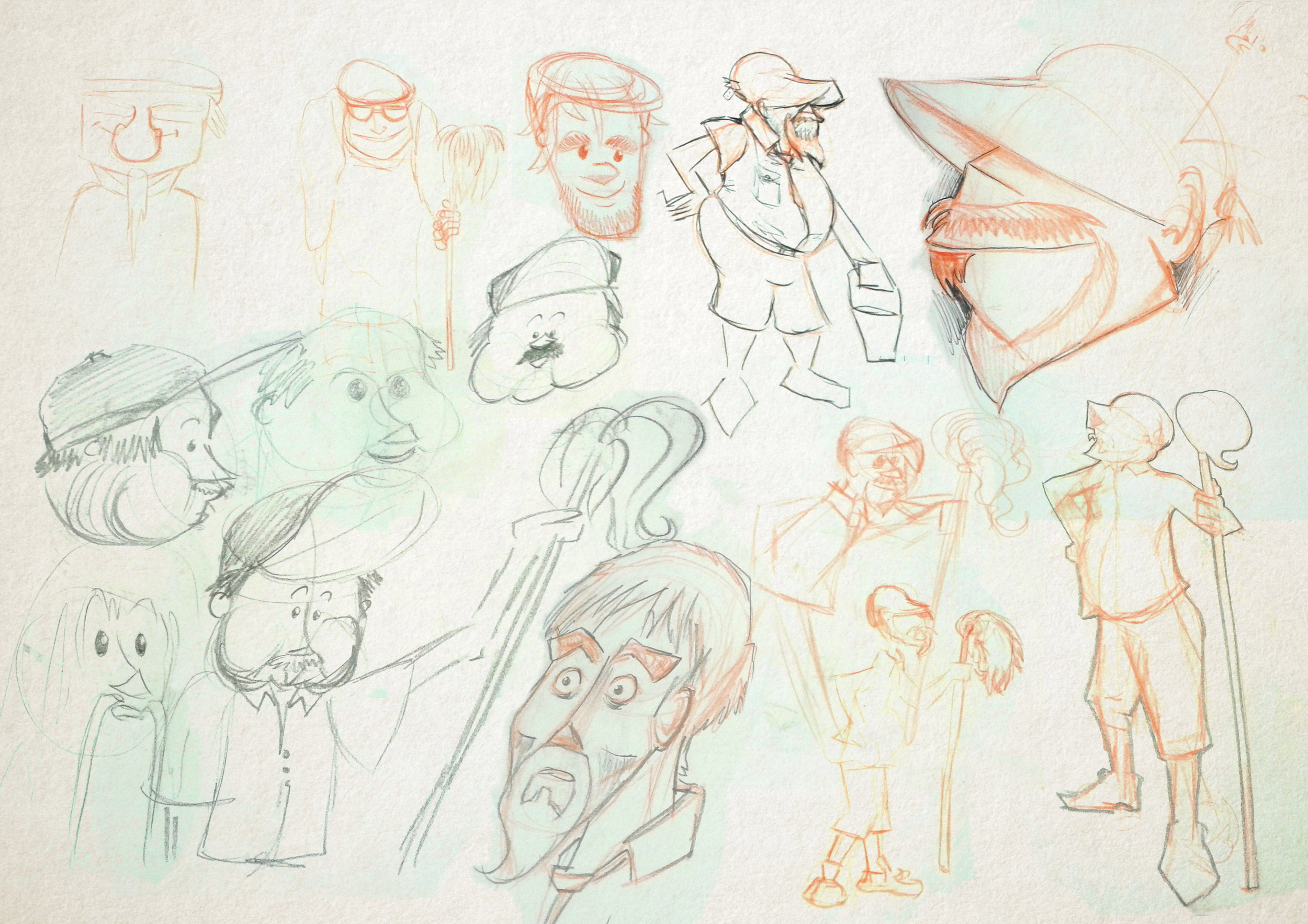 Sketches, Character Creation Process, Nicky Rhodes