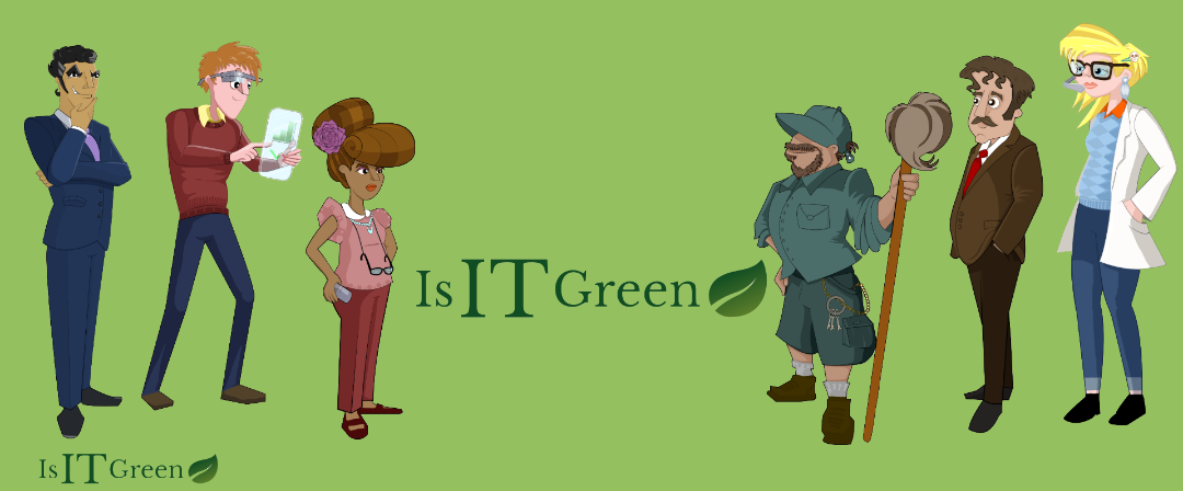 Is IT Green Characters, Totem Learning, Artist Nicky Rhodes