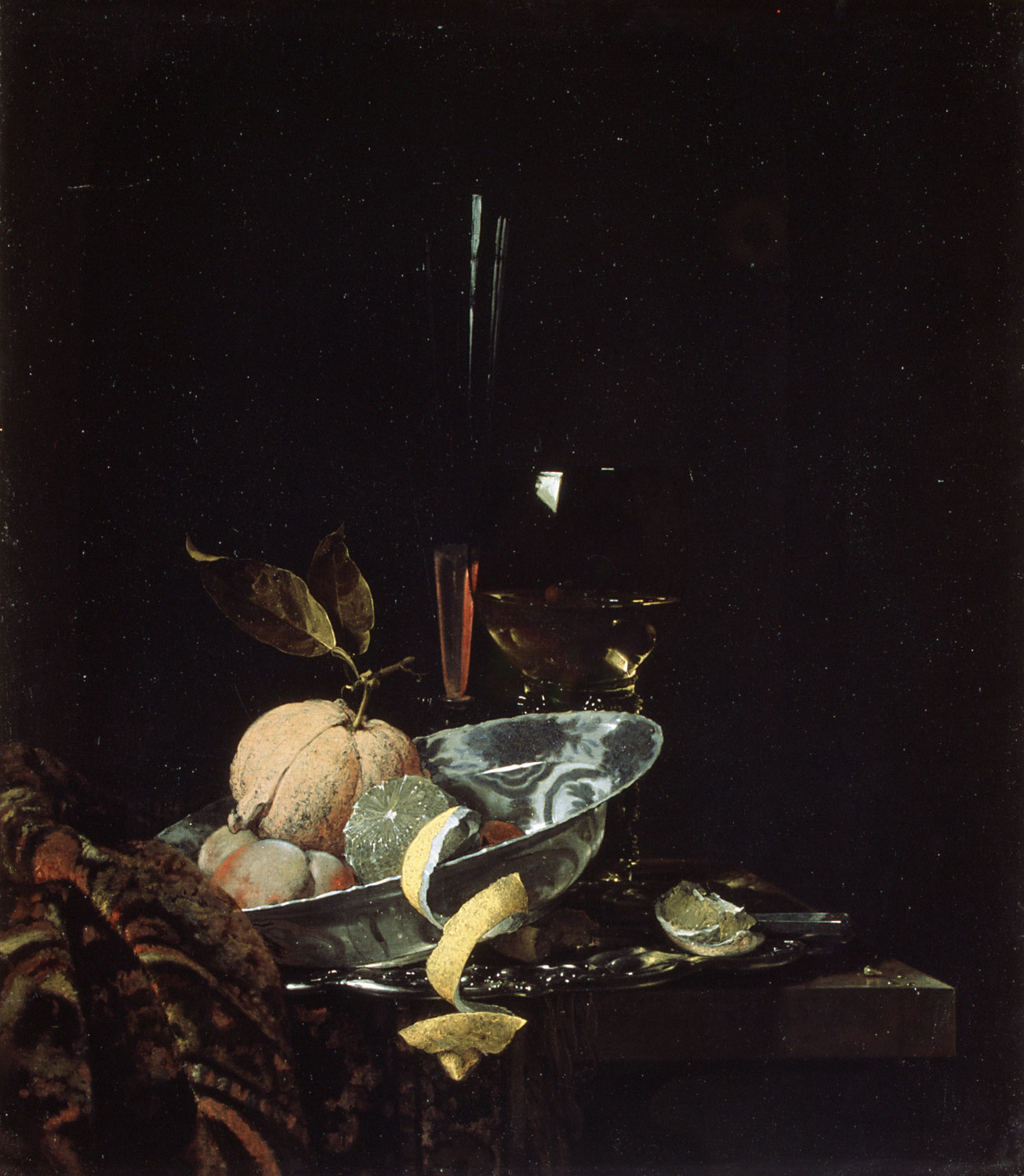 Willem Kalf, still life with an oriental rug, 1669