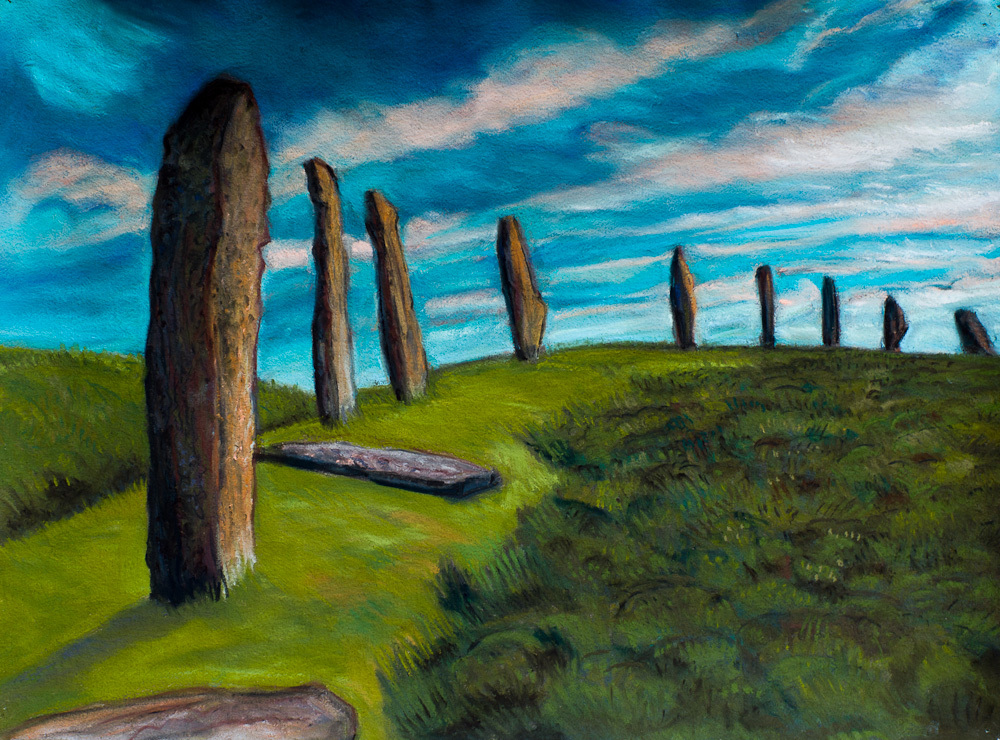 Ring of Brodgar, pastel