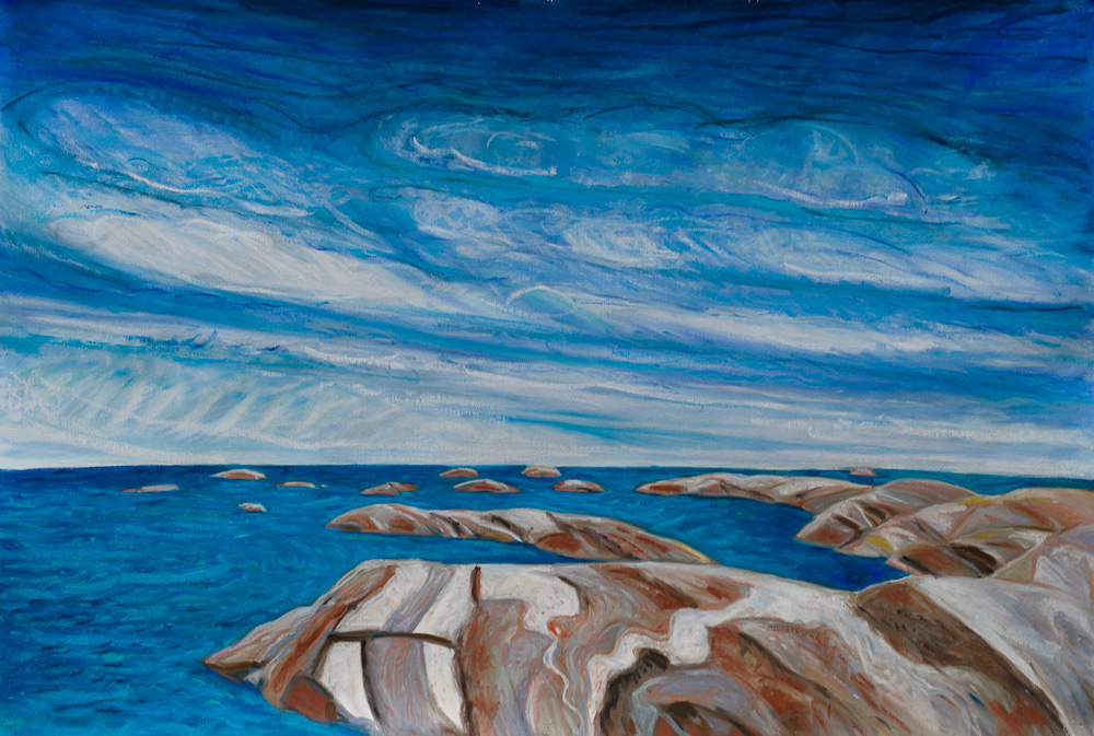 Summer, Hangdog Reef, pastel 30x44