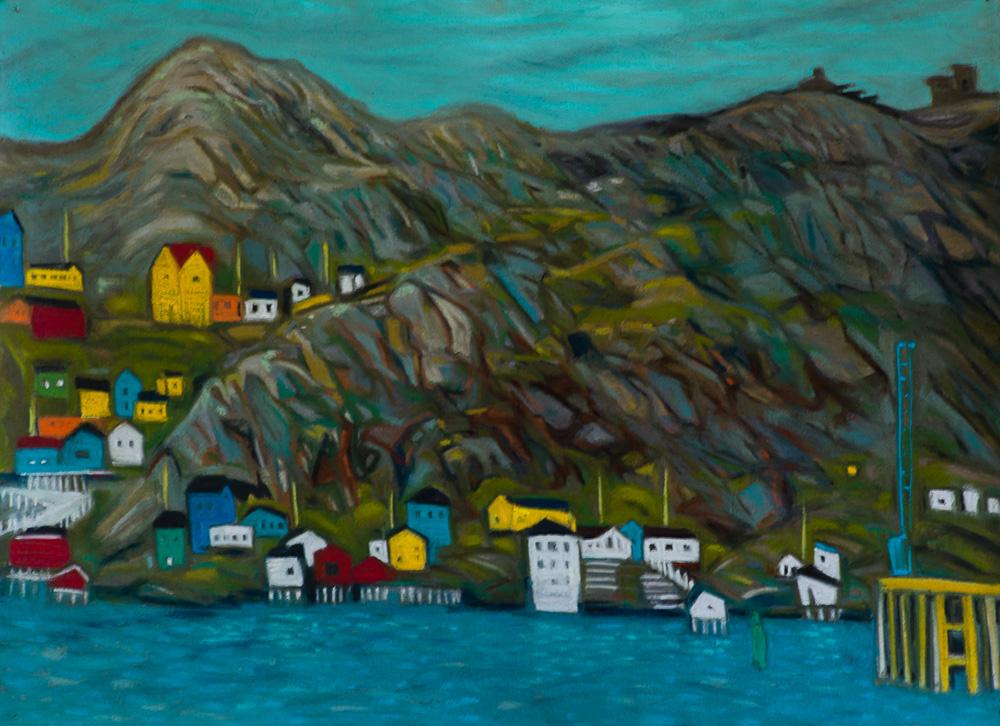 The Battery #2, St. John's pastel 22x30