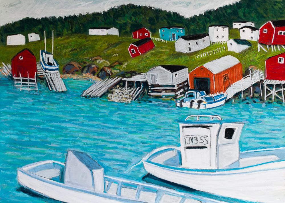 New Bonaventure, Newfoundland. pastel 22x30