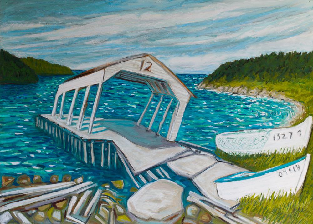 #12, Stock Cove, Newfoundland. pastel 22x30