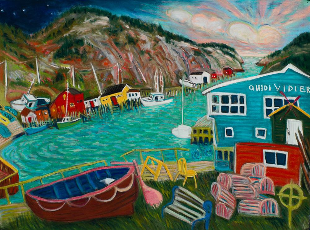 Quidi Vidi Harbour #3 pastel 22x30