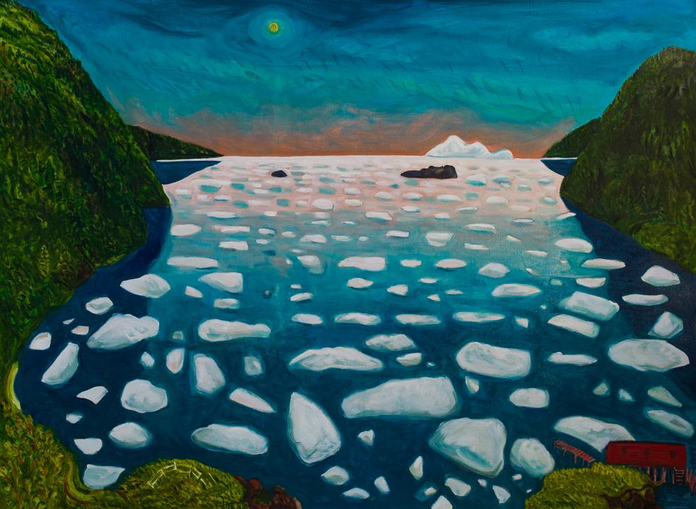 Pack Ice Fantasy #4, oil linen, 44x60.jpg