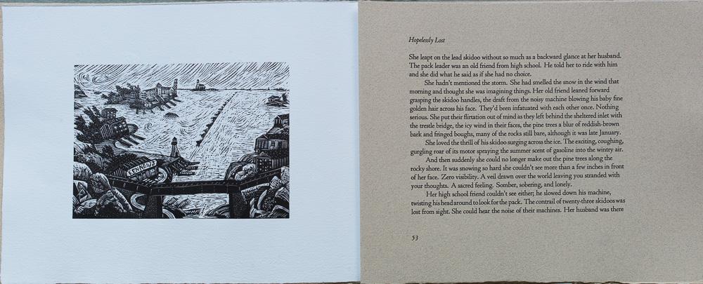 On Spirit Lake, Hopelessly Lost, Susan Swan. page spread.jpg