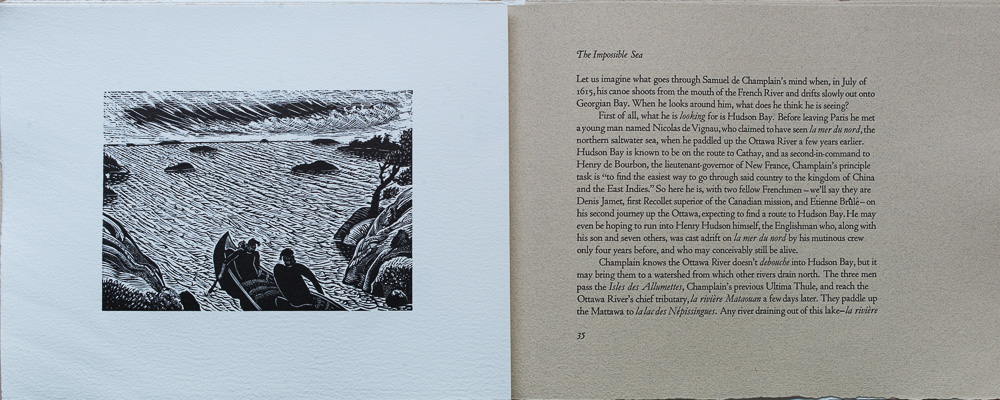 On Spirit Lake, The Impossible Sea, Wayne Grady, page spread.jpg
