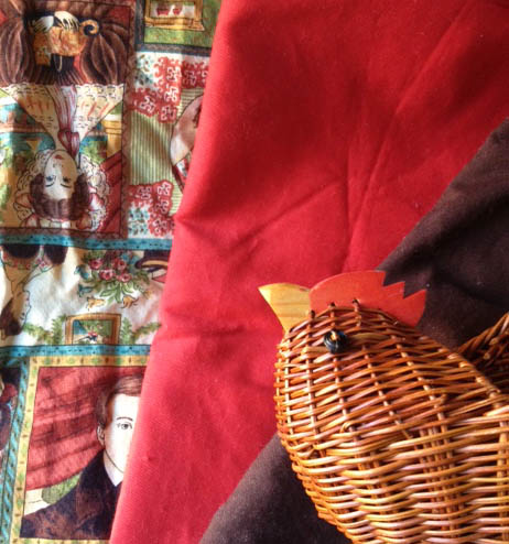I found a bunch of vintage fabric for my stash, and we got some animal baskets.