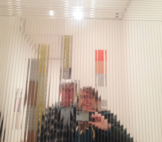 Stephen (my father) and I in some Modern Art. He looks so serious here, but he had a good time.