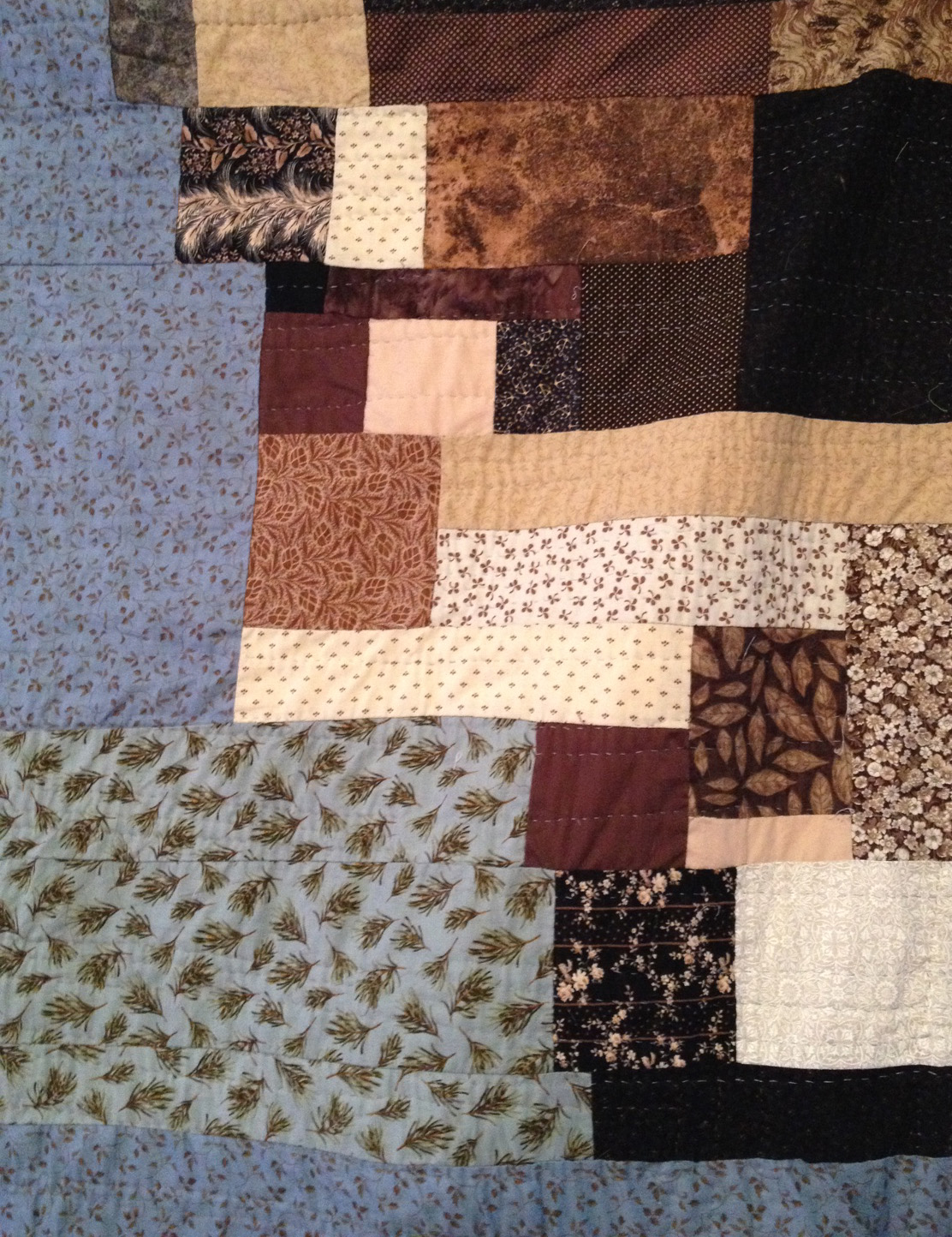 I used some of my favorite precut squares in this quilt. Both vintage and new.
