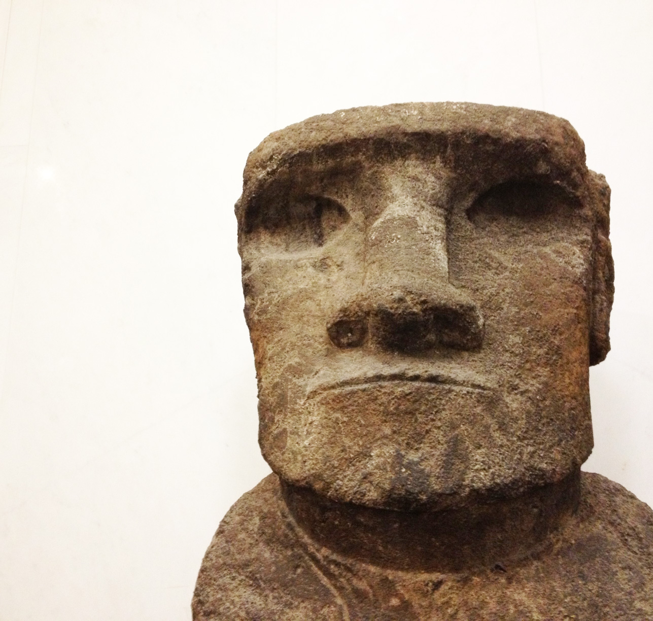 A statue/idol from Easter Island who greets you as you enter the museum...