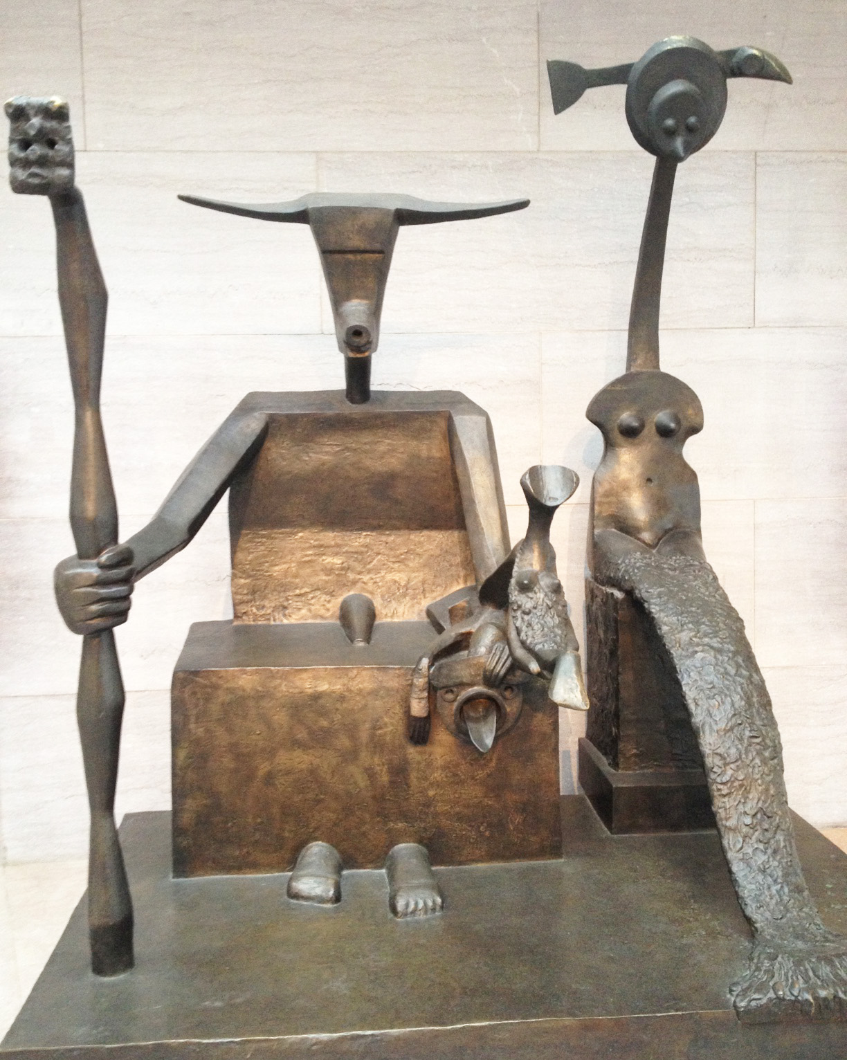We are fans of Max Ernst's paintings and print work and were happy to discover this sculpture.