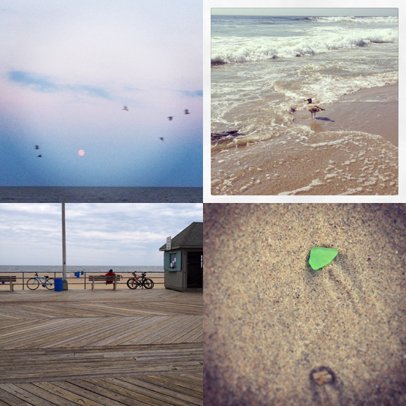 1) Surprised by Super Moon. 2) Hanging with the locals. 3) Slightly over-cast weekdays are always best. 4) Obsessed with sea glass.