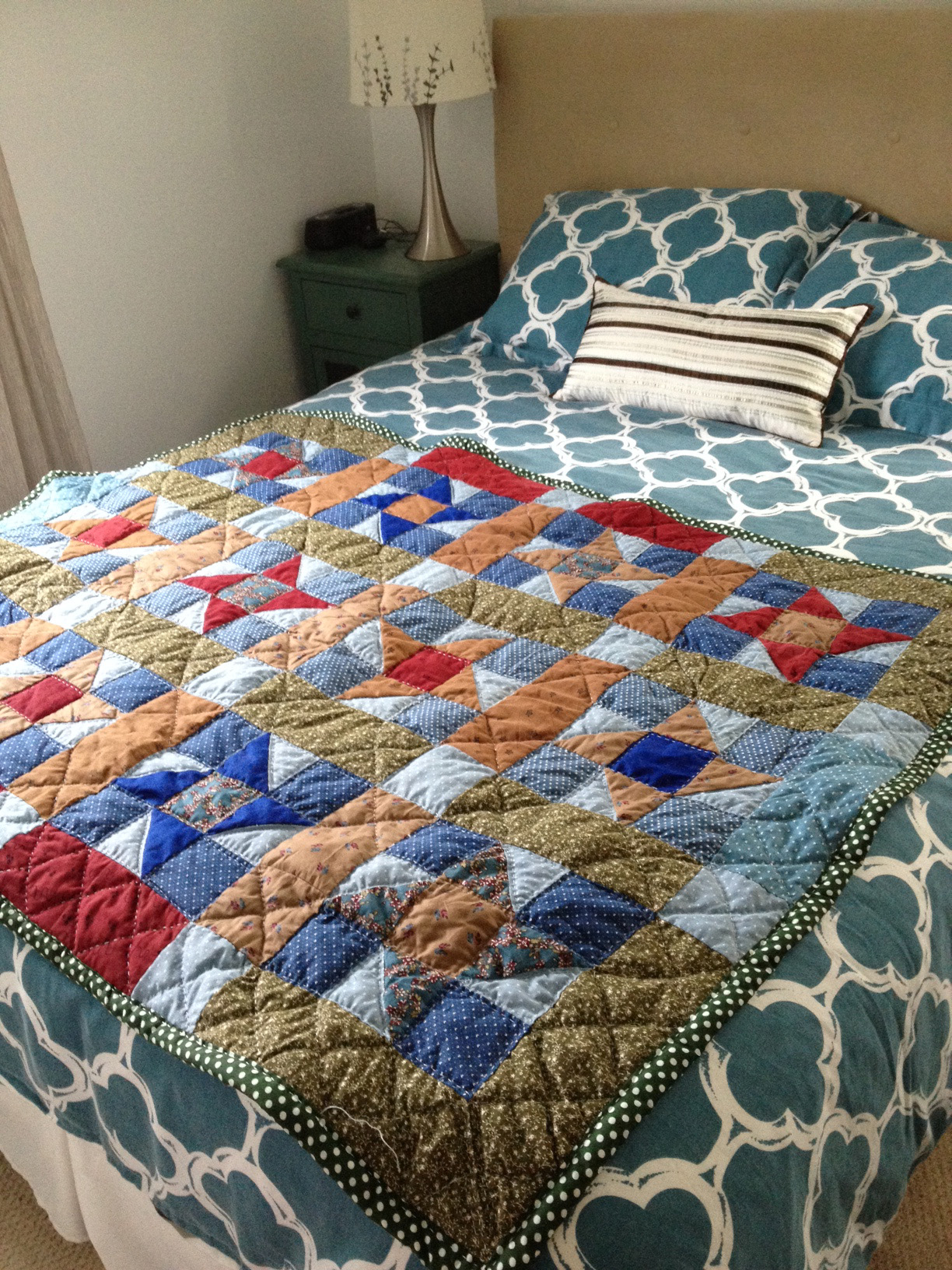 Although, truthfully I did make a log cabin quilt in 2013. You can see it in the  portfolio section .
