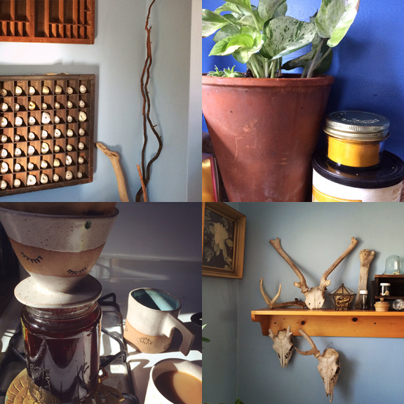 1) Collecting collections. 2) Storage solutions. 3) Old routines in new places. 4) My idea of decorating.