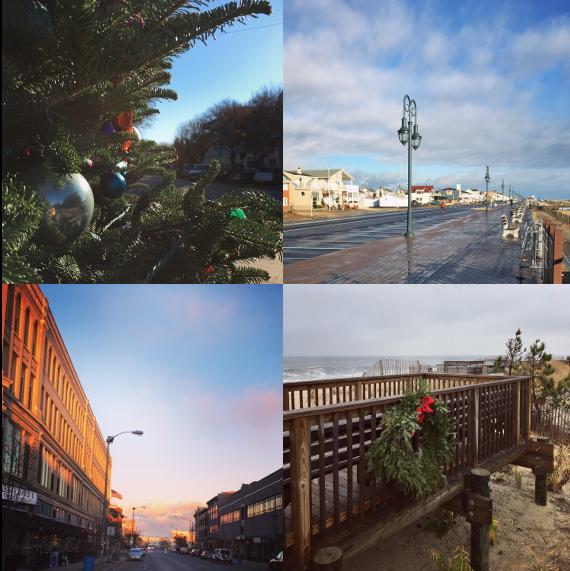 1) An OG xmas. 2) Balmy Belmar. 3) Asbury Park, my heart. 4) Bayhead in the spirit.